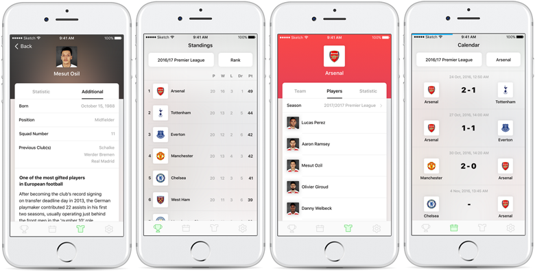 Mobile application for JoomSport - ready prototype.