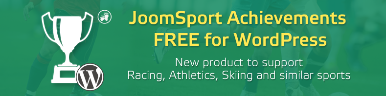 Free JoomSport Achievements sport plugin for WordPress