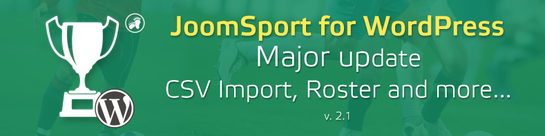 JoomSport for WordPress 2.1 - Roster, CSV Import and more...