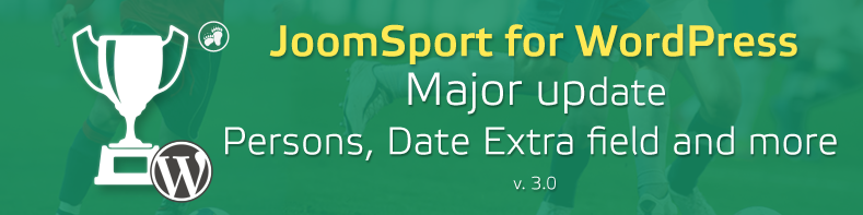 JoomSport 3.0 for WordPress - Persons and other core improvements