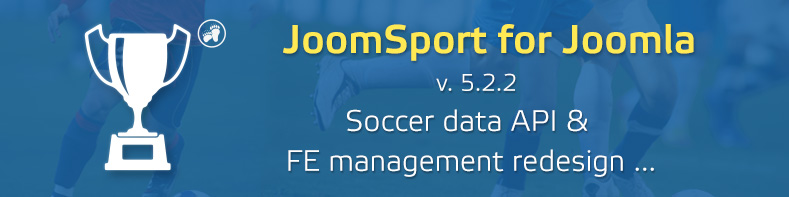 JoomSport 5.2.2 for Joomla! CMS - Football Data API and more